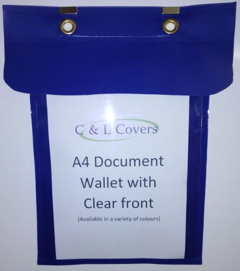 C&L Covers new product – A4 PVC Document Wallet in Merseyside